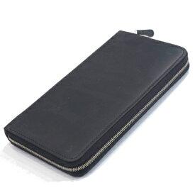 セトラー(SETTLER)WHCのセカンドライン ワンワールドコレクション ヌバックタイプ オイルドレザー ow1760 ジップ付クラッチウオレット(CLUTCH PURSE)BLACK(ブラック)