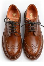 トリッカーズ レディースTRICKER'S LADIES ウィングチップ(短靴)カントリーシューズ アン L5679 マロンアンチィーク レザーソール