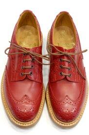 トリッカーズ ウィングチップバートン Tricker's Bourton カントリーシューズ フルブローグ短靴 レッドカーフ ダブルレザーソール