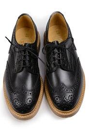 トリッカーズ ウィングチップバートン Tricker's Bourton カントリーシューズ フルブローグ短靴 ブラック MCカーフ レ ダブルレザーソール