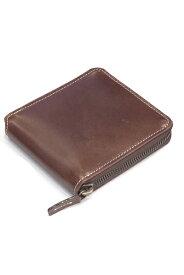 タスティング(TUSTING) ジップ アラウンド ウォレット(ZIP AROUND WALLET) バイカラー2つ折り財布小銭付 シューレザー(牛革)ブラウンxパープル