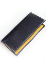 ホワイトハウスコックス WhitehouseCox s9697L ロングウォレット ネイビーxイエロー リージェントブライドルレザー長財布