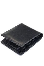 ホワイトハウスコックス s7532 ブライドルレザー 二つ折ウォレットコインケース付(小銭入れ付二つ折り財布)定番モデル ブラック