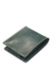 ホワイトハウスコックス s7532 ブライドルレザー 二つ折ウォレットコインケース付(小銭入れ付二つ折り財布)定番モデル グリーン