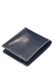 ホワイトハウスコックス s7532 ブライドルレザー 二つ折ウォレットコインケース付(小銭入れ付二つ折り財布)定番モデル ネイビー