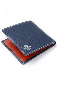 ホワイトハウスコックス s8772 ノートケース(小銭入れなしの札入れ 二つ折り)ロンドンカーフxブライドルレザー 新作ツートンカラー ネイビーxレッド