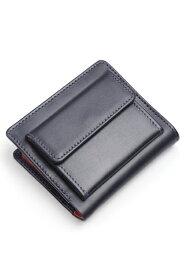 ホワイトハウスコックス WHITEHOUSE COX s1958 二つ折り財布外小銭付き ネイビー x レッド ホースハイド(馬革)ノートケース 英国製