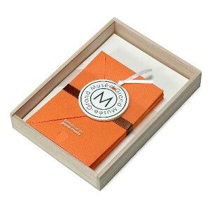 レターセット A5 木箱入り オレンジ PAPIER グランミュゼ プレゼント 記念品 公式通販サイト