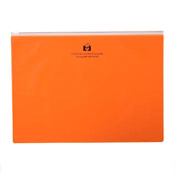 ジッパーポケットA4オレンジ