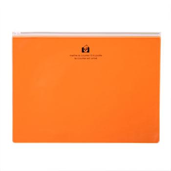 ジッパーポケットB5オレンジ