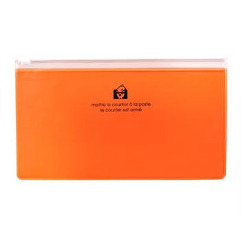 ジッパーポケットペンオレンジ