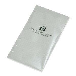 バイブル6穴リフィル 100シート 方眼5mm ホワイト ルーズリーフ シンプル 公式通販サイト