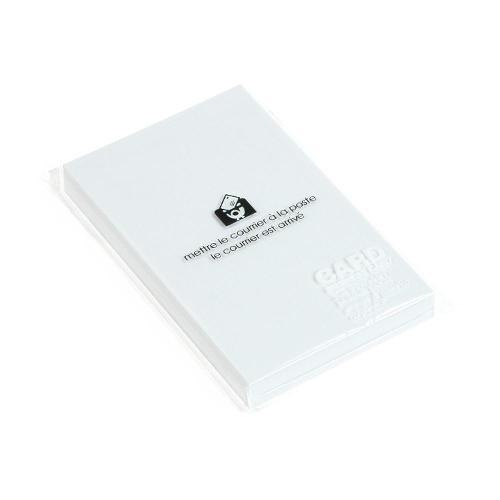 エトランジェ・ディ・コスタリカ etranger di costarica ビジネスカード 50枚入 【色上質紙】 [P] ホワイト 文房具 ステーショナリー 文具 デザイン文具