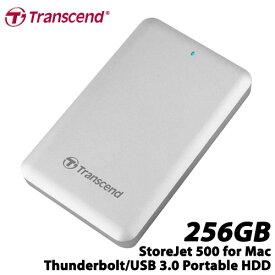トランセンド TS256GSJM500 [StoreJet 500 Thunderbolt/USB 3.0対応 ポータブルSSD 256GB]【Mac対応】