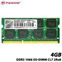 【送料無料】トランセンド TS512MSK64V1N [4GB DDR3 1066 SO-DIMM 204pin CL7 256M×8 永久保証]
