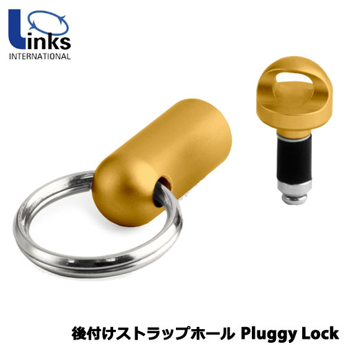LINKS INTERNATIONAL PL-Ambassador Gold + Wrist Strap [後付けストラップホール Pluggy Lock(プラギーロック)ゴールド]