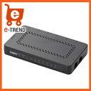 【送料無料】ロジテック LAN-GSW08/PSB [1000BASE-T対応スイッチ/超小型/8ポート/ブラック]