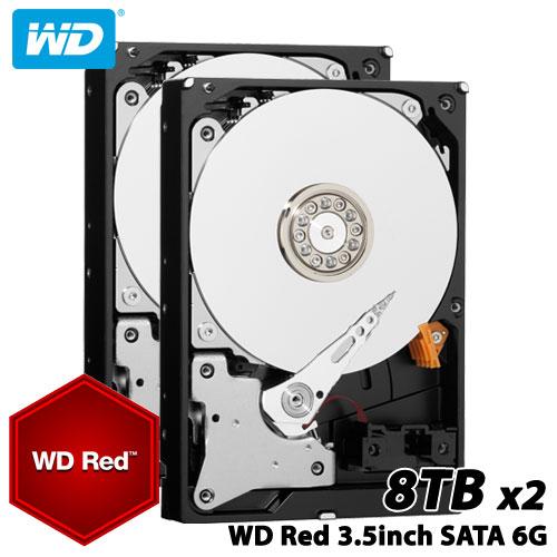 ★お得な2台セット★WD80EFZX [WD Red(8TB 3.5インチ SATA 6G 5400rpm 128MB)]