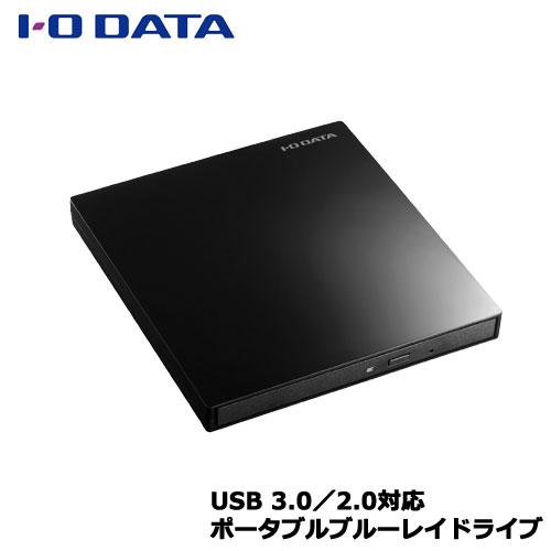 アイオーデータ EX-BD03K [USB 3.0バスパワー対応 9.5mmスリムドライブ採用ポータブルブルーレイドライブ ピアノブラック]
