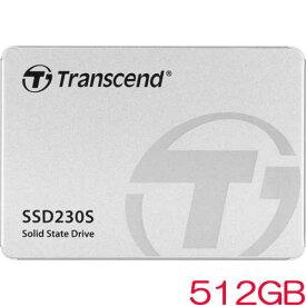 トランセンド TS512GSSD230S [512GB SSD230シリーズ 2.5インチ SATA3 3D TLC搭載 アルミ筐体]