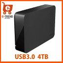 【送料無料】バッファロー HD-LC4.0U3-BK [ドライブステーション ターボPC EX2対応 USB3.0用 外付けHDD 4TB ブラック]