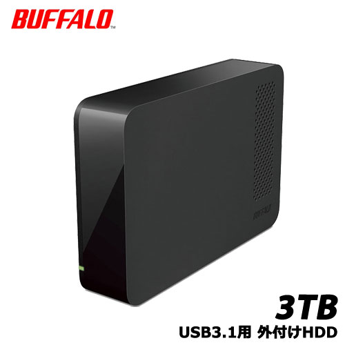 BUFFALO DriveStation HD-LC3.0U3-BKF [USB3.1用 外付HDD 3TB ブラック]