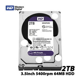 ウエスタンデジタル WD20PURZ [WD Purple(2TB 3.5インチ SATA 6G 5400rpm 64MB)]【内蔵ハードディスク】