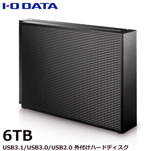 【送料無料】アイオーデータ EX-HD6CZ [USB 3.0/2.0対応 外付ハードディスク 6TB ブラック]