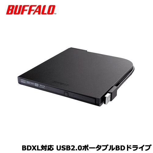 BRXL-PT6U2V/N [BDXL対応 USB2.0ポータブルBDドライブ スリム ブラック]