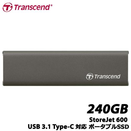 トランセンド TS240GSJM600 [240GB StoreJet 600 USB 3.1 Type-C対応 ポータブルSSD]