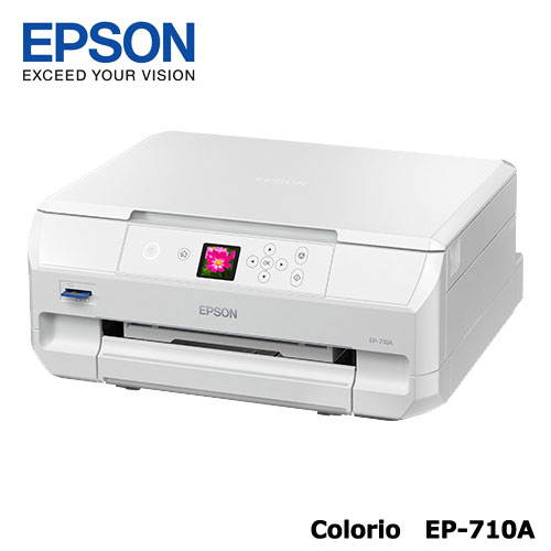Colorio EP-710A [A4IJプリンター/多機能/Wi-Fi/1.44型液晶]