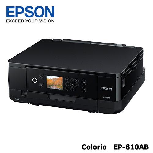 Colorio EP-810AB [A4IJプリンター/多機能/Wi-Fi/2.7型液晶/ブラック]