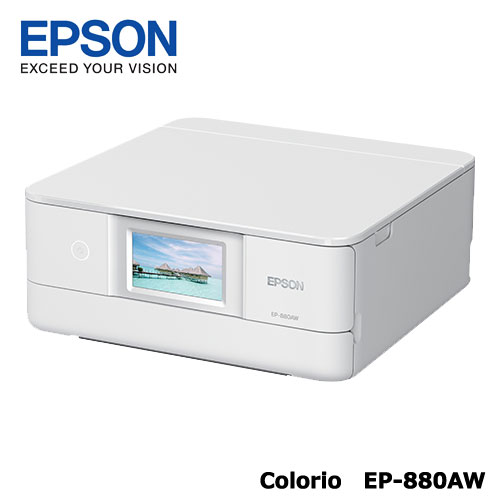Colorio EP-880AW [A4IJプリンター/多機能/Wi-Fi/4.3W/ホワイト]
