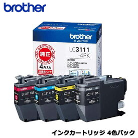 ブラザー LC3111-4PK [インクカートリッジ お徳用4色パック]【純正品】