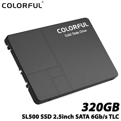 COLORFUL SL500 320G [320G SSD 2.5インチ 7mm、SATA 6Gb、3D TLC、SMI SM2258XT、キャッシュレス、3年保証]