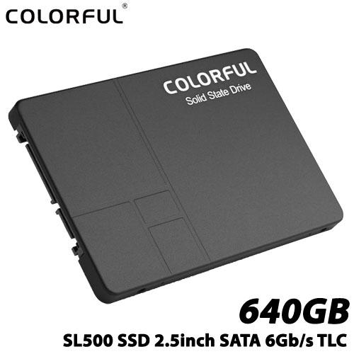 COLORFUL SL500 640G [640GB SSD 2.5インチ 7mm、SATA 6Gb、3D TLC、SMI SM2258XT、キャッシュレス、3年保証]