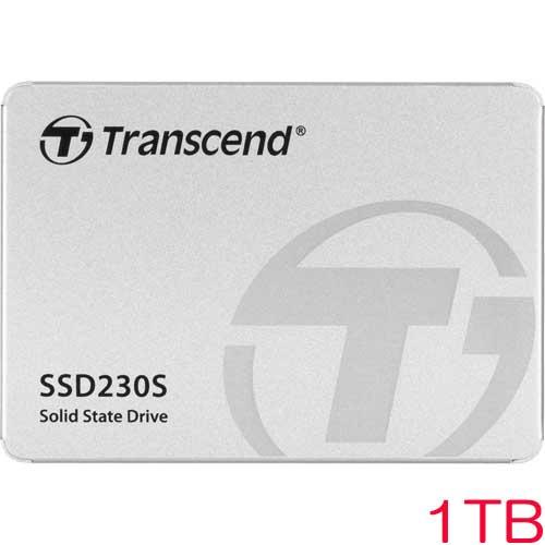 トランセンド TS1TSSD230S [1TB SSD230シリーズ 2.5インチ SATA3 3D TLC搭載 アルミ筐体]
