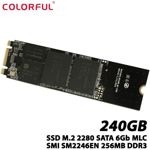 COLORFUL CN500 240G(M.2 2280) [240GB SSD M.2 2280、SATA 6Gb、MLC、SMI SM2246EN、256MB DDR3、3年保証]