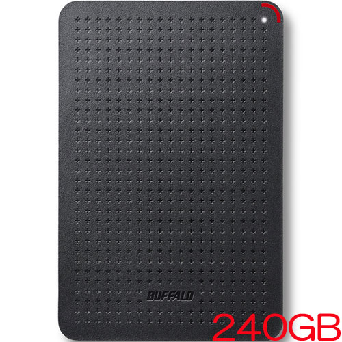 バッファロー SSD-PL240U3-BK/N [USB3.1(Gen1) 小型ポータブルSSD 240GB ブラック]