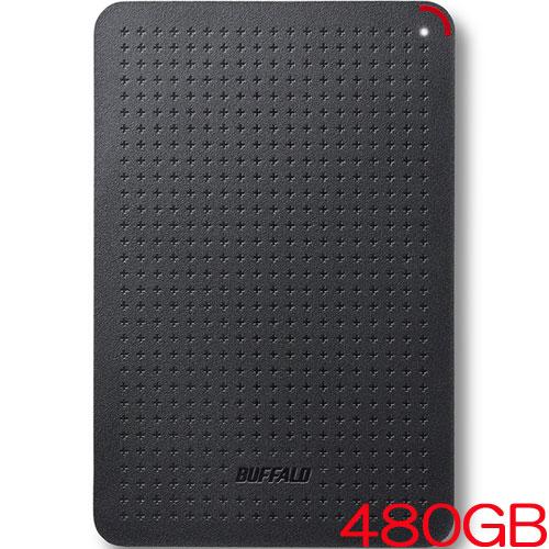 バッファロー SSD-PL480U3-BK/N [USB3.1(Gen1) 小型ポータブルSSD 480GB ブラック]