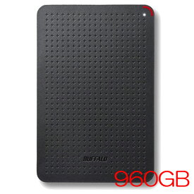 バッファロー SSD-PL960U3-BK/N [USB3.1(Gen1) 小型ポータブルSSD 960GB ブラック]