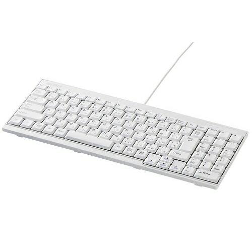 バッファローコクヨサプライ iBUFFALO BSKBU14WH [USB接続 有線スリムキーボード ホワイト]
