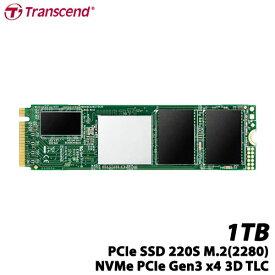 トランセンド TS1TMTE220S [1TB PCIe SSD 220S M.2(2280)、NVMe PCIe Gen3 x4、3D TLC、キャッシュ 512MB、5年保証]