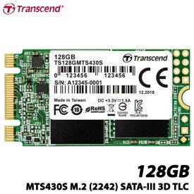 トランセンド TS128GMTS430S [128GB SSD MTS430S M.2 Type 2242 SATA-III DDR3キャッシュ 3D TLC NAND 5年保証]