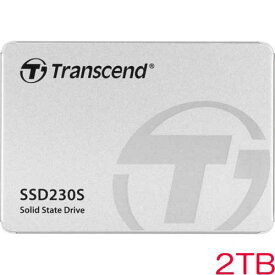 トランセンド TS2TSSD230S [2TB SSD230シリーズ 2.5インチ SATA3 3D TLC搭載 アルミ筐体 5年保証]