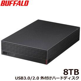 バッファロー HD-NRLD8.0U3-BA [USB3.1/USB3.0/USB2.0 外付けHDD PC&TV録画 静音&防振&放熱設計 見守り合図 8TB]
