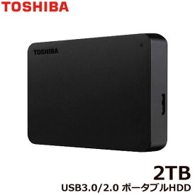 東芝 ポータブルHDD HDTB420FK3AA-D [ポータブルHDD 2TB ブラック]