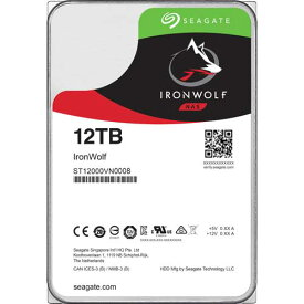 シーゲート ST12000VN0008 [NAS向けHDD IronWolf(12TB 3.5インチ SATA 6G 7200rpm 256MB)]