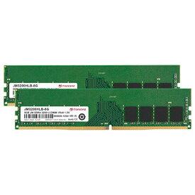 トランセンド JM3200HLB-16GK [16GB KIT (8GBx2) JetRam DDR4 3200 U-DIMM 1Rx8 (1Gx8) CL22 1.2V]