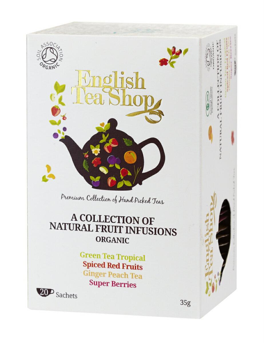有機JAS認定 フルーツティー 4種アソートパック オーガニックティー 20袋入り(ティーバッグ) ペーパーボックス フルーツティー English Tea Shop フェアトレード イングリッシュティーショップ